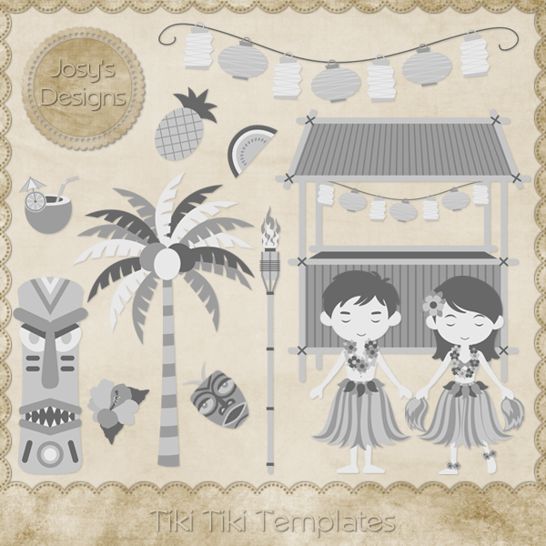Tiki Tiki Layered Templates by Josy