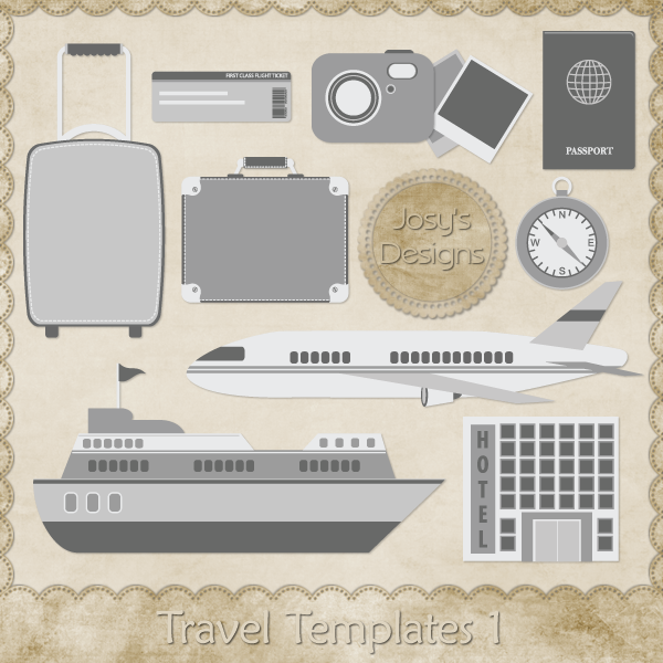 Travel Layered Templates 1 by Josy