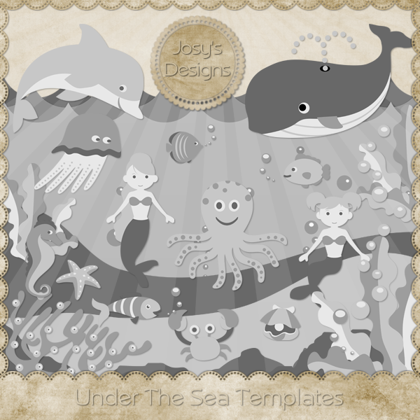 Under The Sea Layered Templates by Josy
