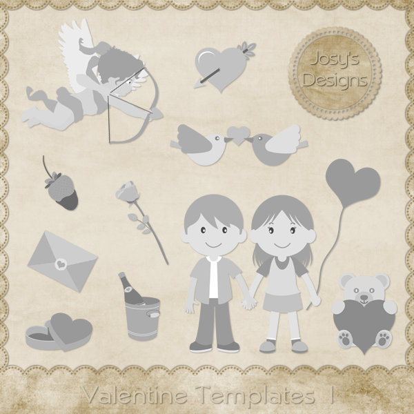 Valentine Layered Templates by Josy