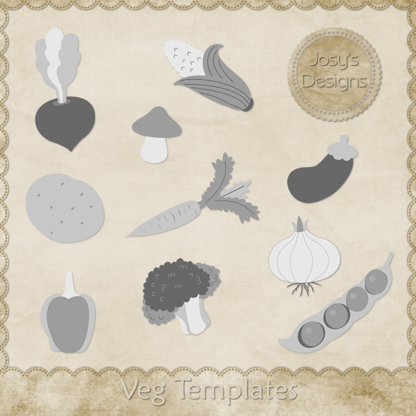 Veg Layered Templates by Josy