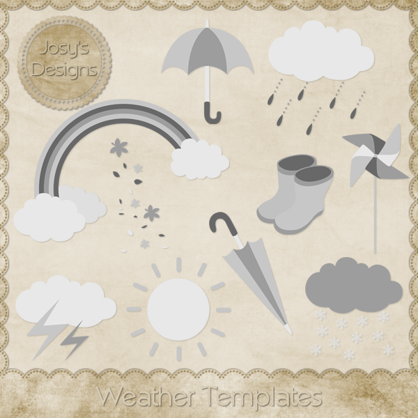 Weather Layered Templates by Josy