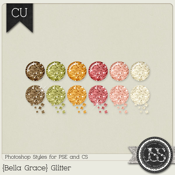 Bella Grace Glitter PS Styles by Just So Scrappy