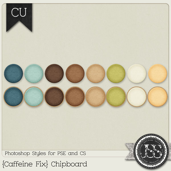 Caffeine Fix Chipboard PS Styles by Just So Scrappy