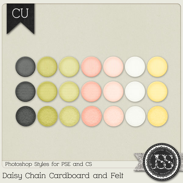 Daisy Chain Cardboard and Felt PS Styles by Just So Scrappy