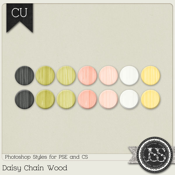 Daisy Chain Wood PS Styles by Just So Scrappy