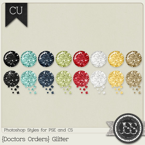 Doctors Orders Glitter PS Styles by Just So Scrappy