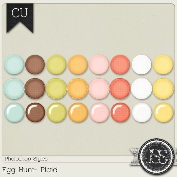 Egg Hunt Plaid PS Styles by Just So Scrappy