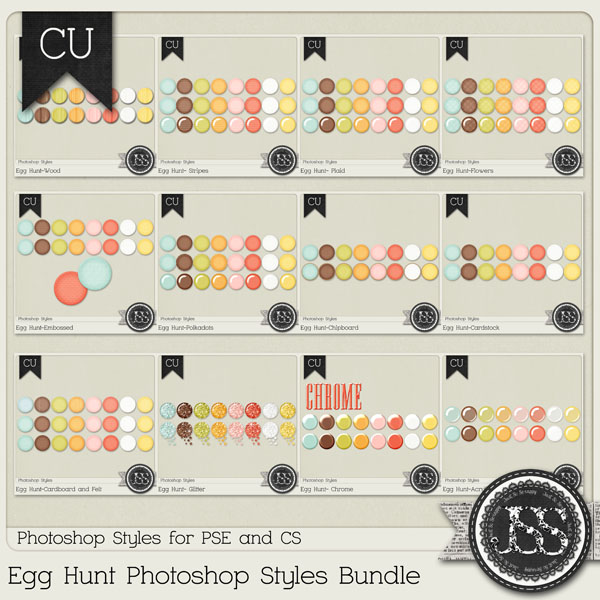 Egg Hunt PS Styles Bundle by Just So Scrappy