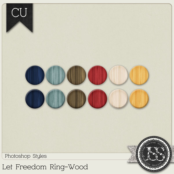 Let Freedom Ring Wood PS Styles by Just So Scrappy