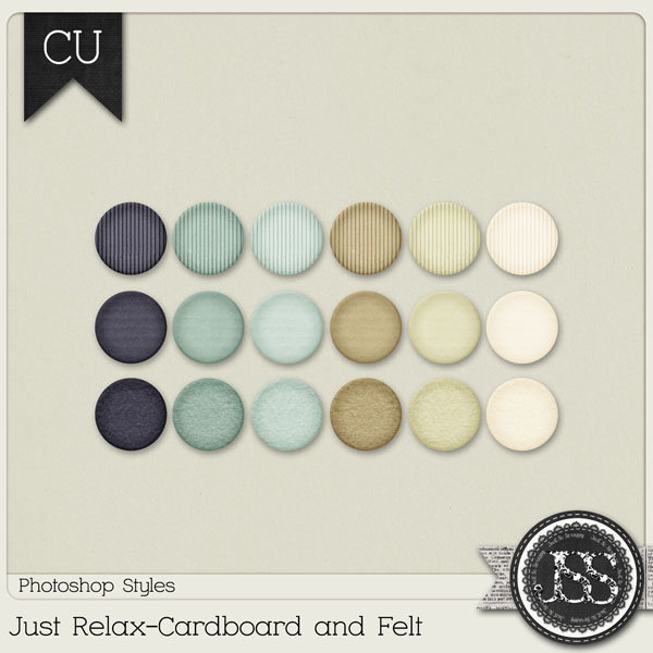 Just Relax Cardboard and Felt PS Styles by Just So Scrappy