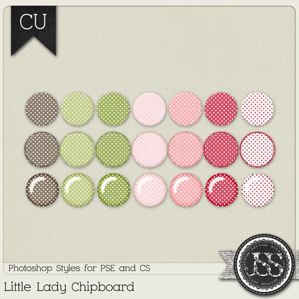 Little Lady Polkadots PS Styles by Just So Scrappy