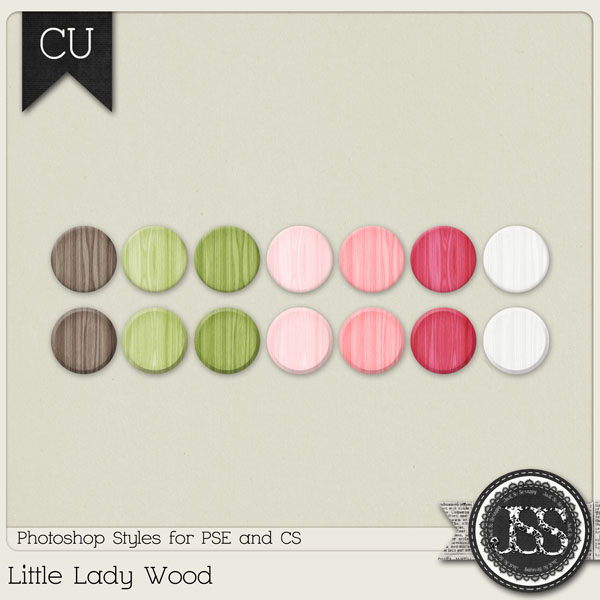 Little Lady Wood PS Styles by Just So Scrappy