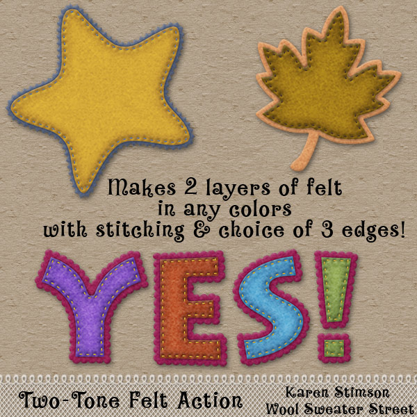 Two Tone Felt Action by Karen Stimson