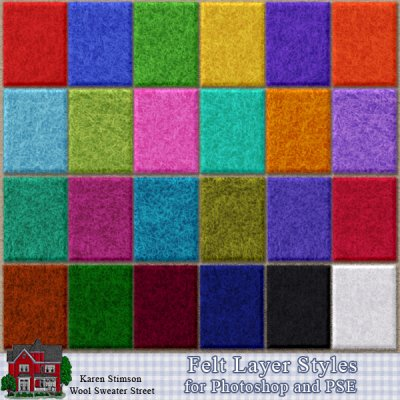 Felt Layer Styles & Action by Karen Stimson
