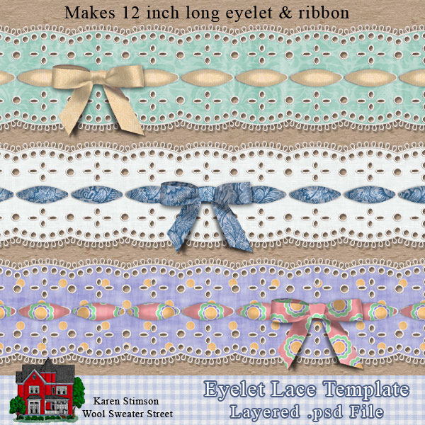 Eyelet Lace Template by Karen Stimson
