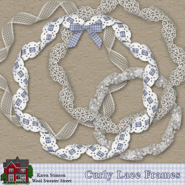 Curly Lace Frames by Karen Stimson