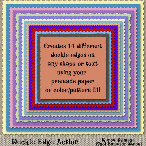 Deckle Edge Action by Karen Stimson