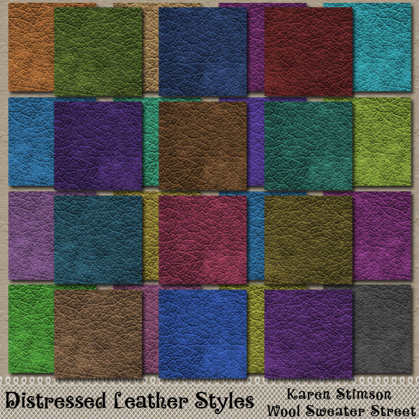 Distressed Leather Layer Styles by Karen Stimson