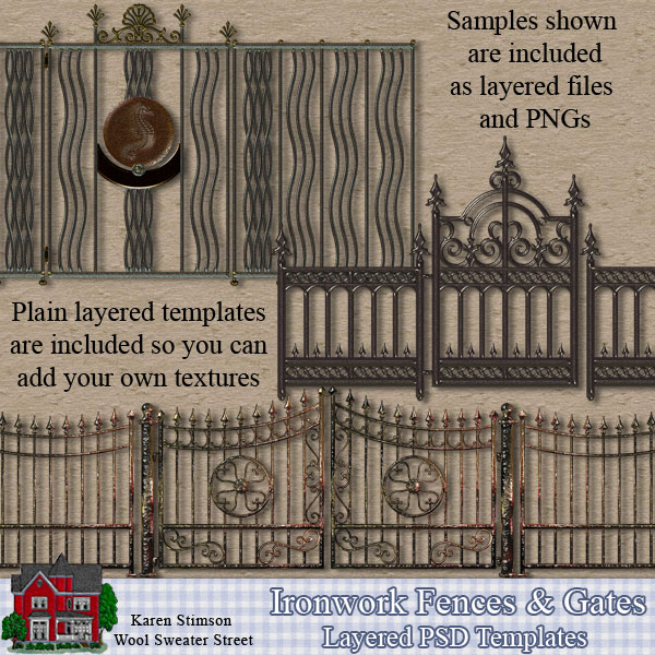 Ironwork Fence & Gate Templates by Karen Stimson