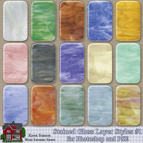 Stained Glass Layer Styles 1 by Karen Stimson