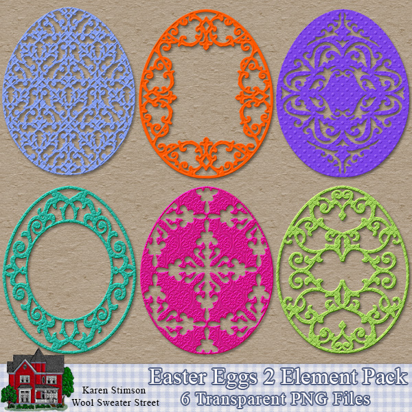 Easter Eggs 2 Element Pack by Karen Stimson