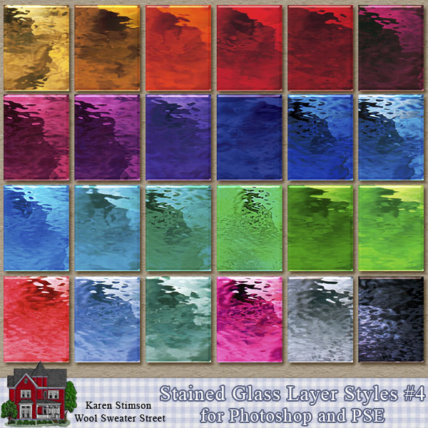 Stained Glass Layer Styles 4 by Karen Stimson