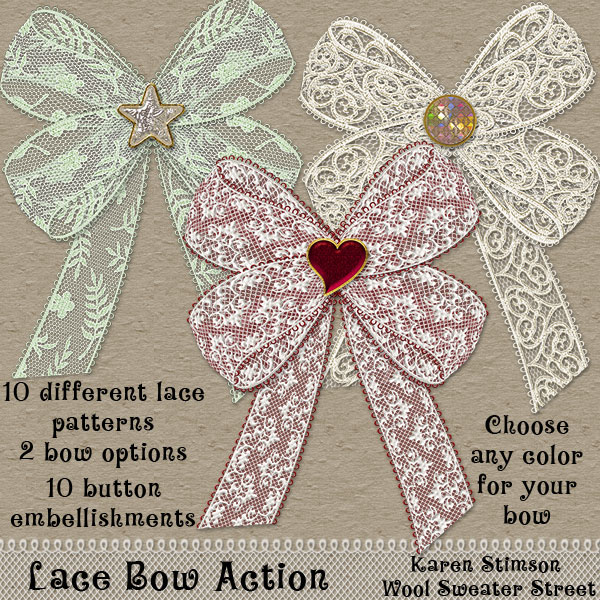 Lace Bow Action by Karen Stimson