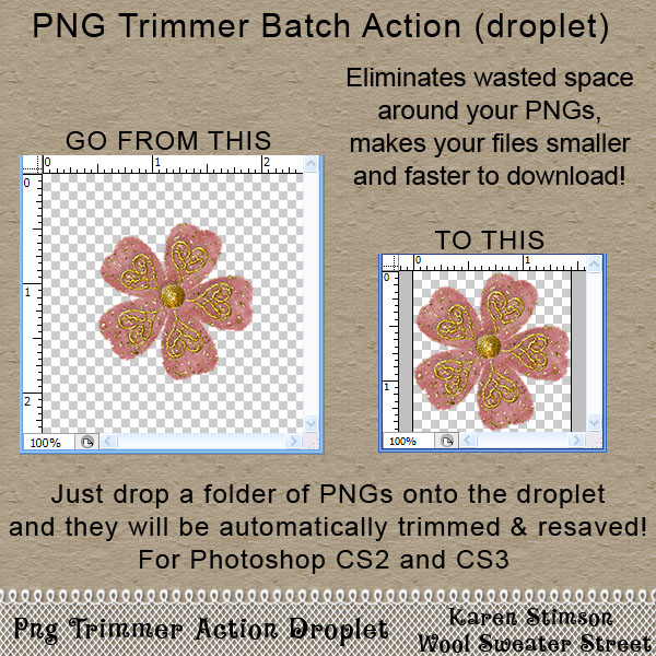 PNG Trimmer Batch Action by Karen Stimson