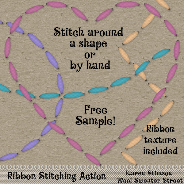 Ribbon Stitching Action by Karen Stimson