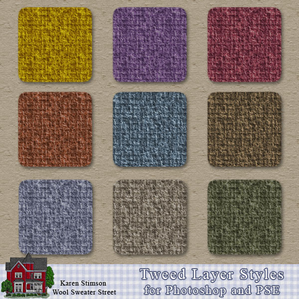 Tweed Layer Styles by Karen Stimson