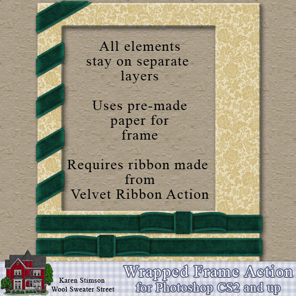 Wrapped Frame Action by Karen Stimson