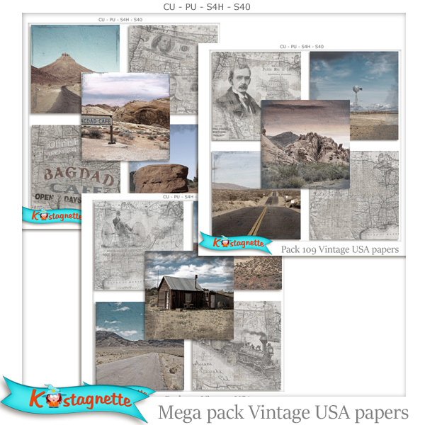 Mega pack USA Papers by Kastagnette