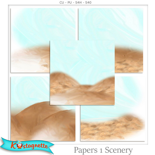 Papers Pack 1 Scenery by kastagnette