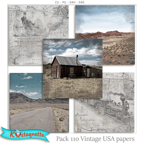 Pack 110 USA Papers by Kastagnette