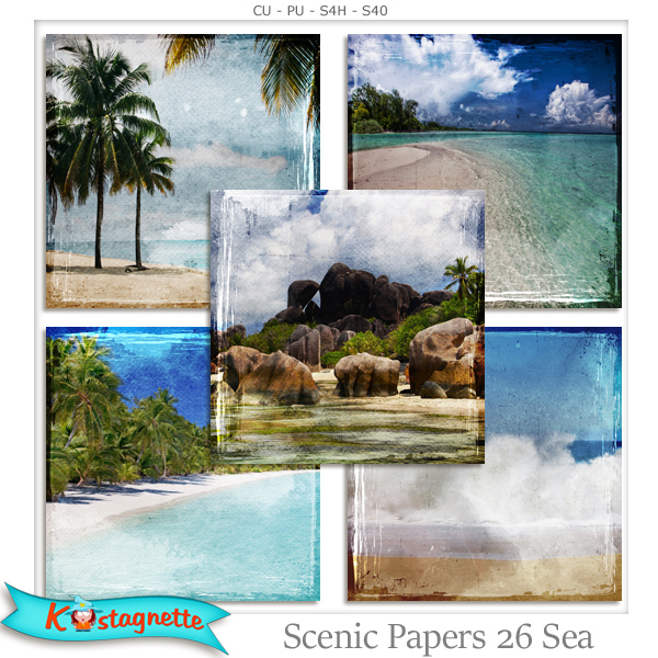 Scenic Papers 26 Sea by Kastagnette