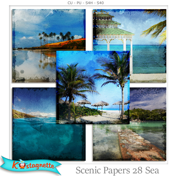Scenic Papers 28 Sea by Kastagnette