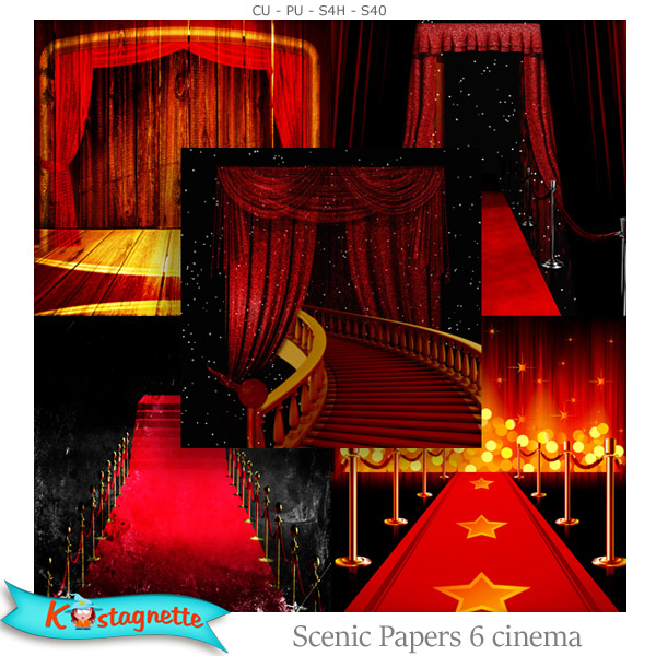 Scenic Papers 6 Cinema by Kastagnette