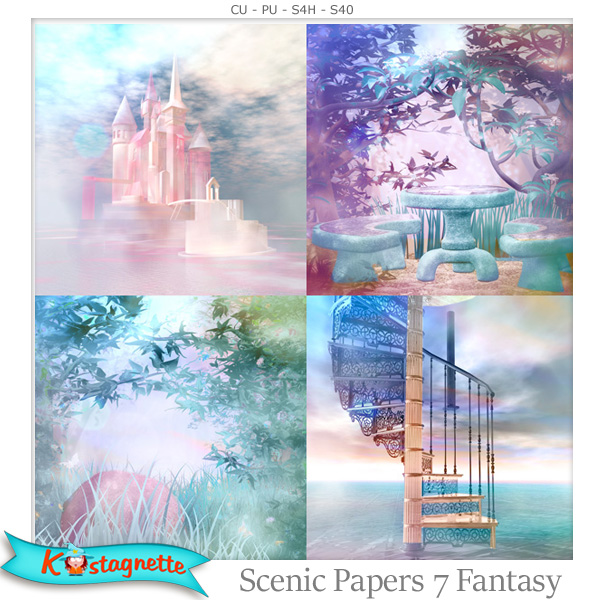 Scenic Papers 7 Fantasy by Kastagnette