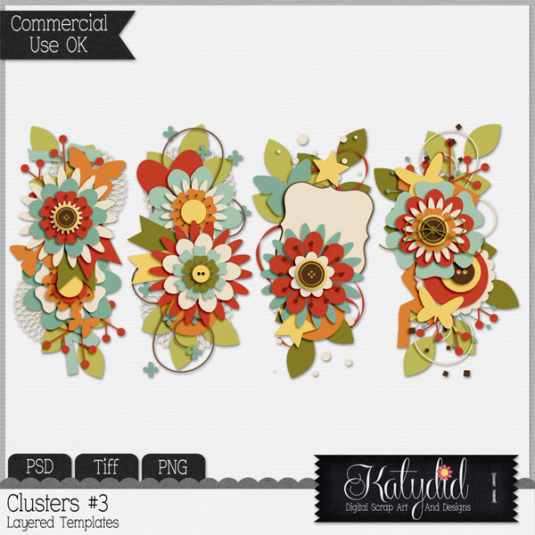 Clusters Layered Templates Pack No 3