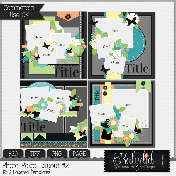 Layout Page Layered Templates Pack No 2