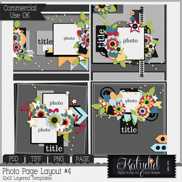 Layout Page Layered Templates Pack No 4
