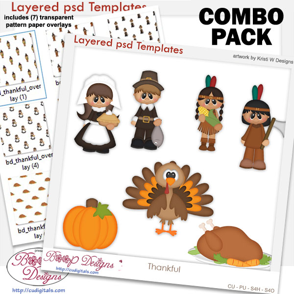 Thankful Layered Template COMBO Pack