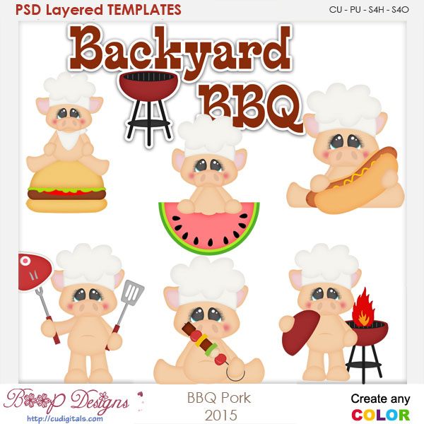 BBQ Pork Layered Element Templates