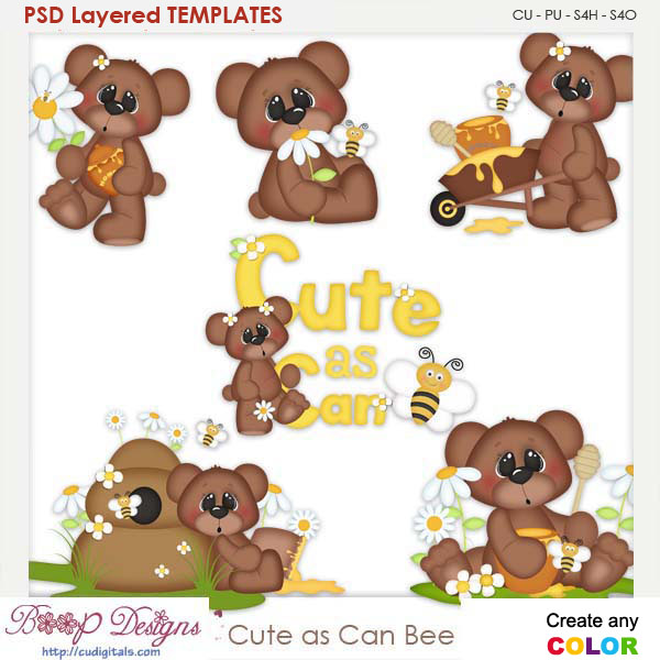 Cute As Can Bee Layered Element Templates