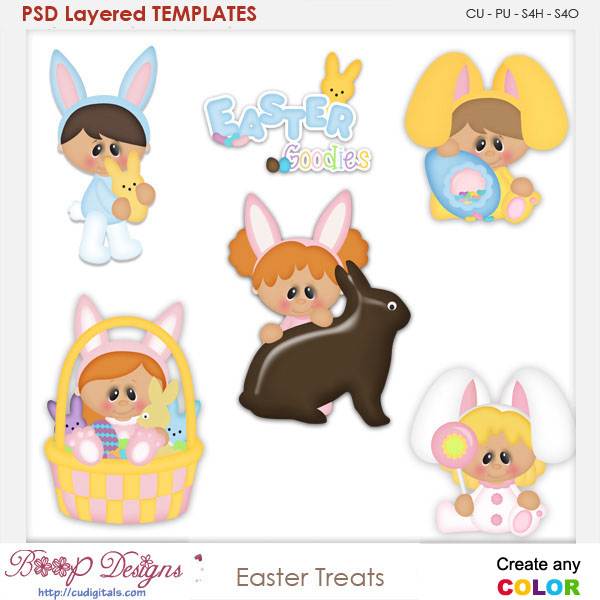 Easter Treats Layered Element Templates