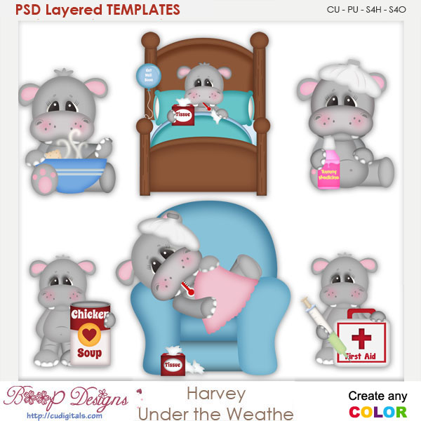 Harvey Under the Weather Layered Element Templates