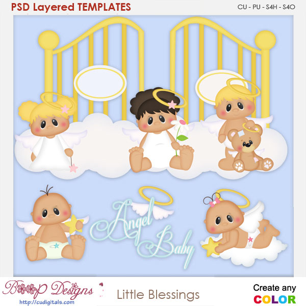 Little Blessings Layered Element Templates
