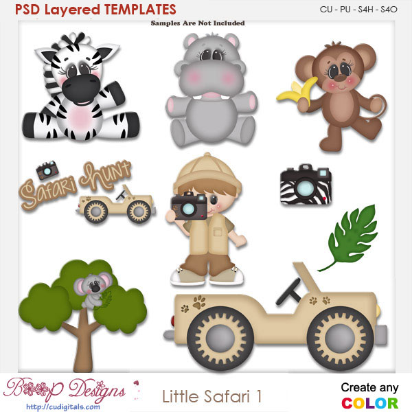 Little Safari 1 Layered Element Templates