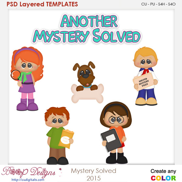 Mystery Solved Layered Element Templates